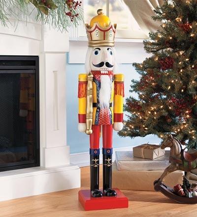 Giant handpainted wooden nutcracker christmas for 4 foot nutcracker decoration