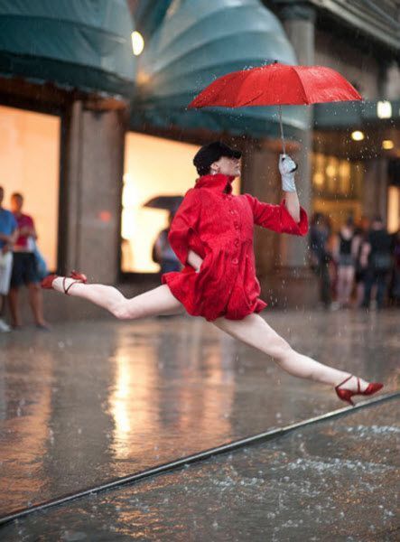 """New York photographer Jordan Matter's project """"Dancers Among Us"""" features performers from the Paul Taylor Dance Company performing guerilla dance moves in iconic Manhattan locations."""