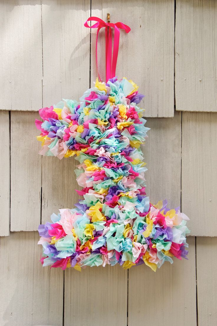 Tissue Paper Number Wreath - Birthday Decoration - Custom Order