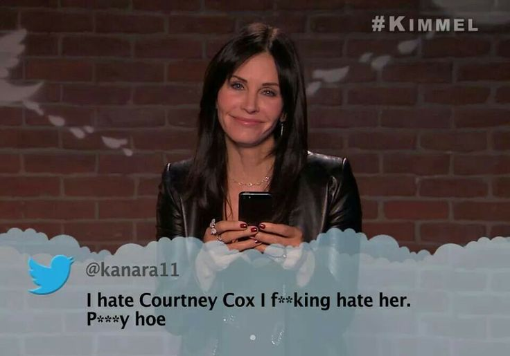 Jimmy Kimmel mean tweets - Courtney Cox | the rich and the famous | P
