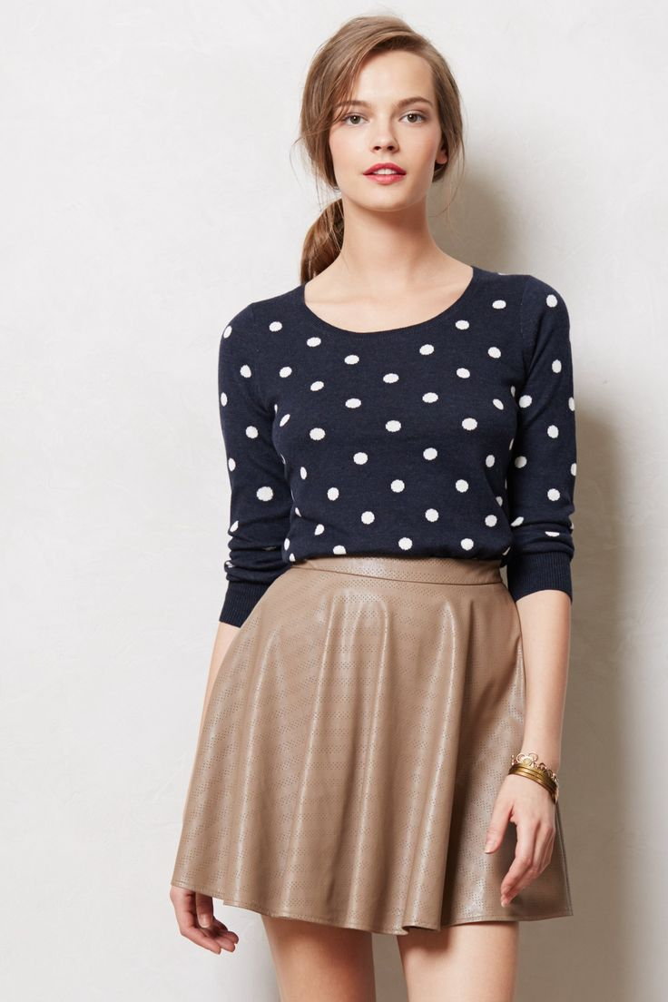 polka dots sweater and skirt