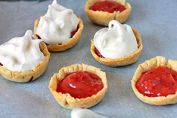 Blood Orange Meringue Pies - add meringue