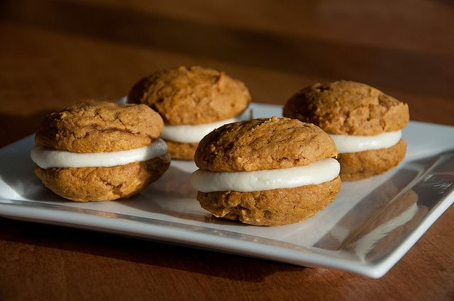 Pumpkin Spiced Whoopie Pies with Maple Mascarpone Filling from Fact ...