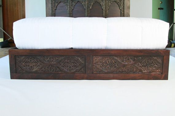 Today spanish style carved bed frame stained with dark finish for Spanish style bed