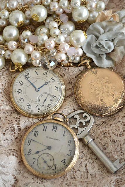 Pearls, keys & pocket watches