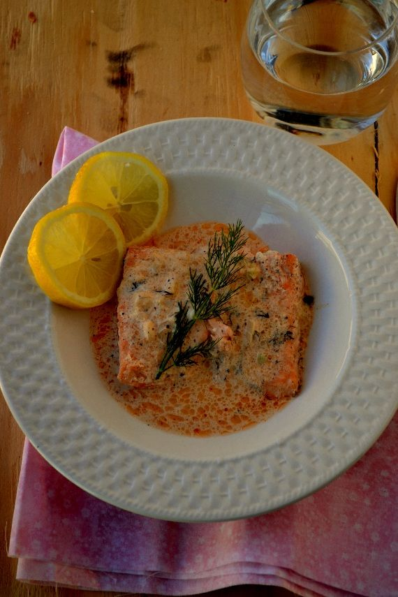 Baked Salmon with Mustard-Dill Sauce | Spices and Aroma | Food, Life ...