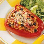 Multigrain Stuffed Pepper Cups, Recipe from Cooking.com
