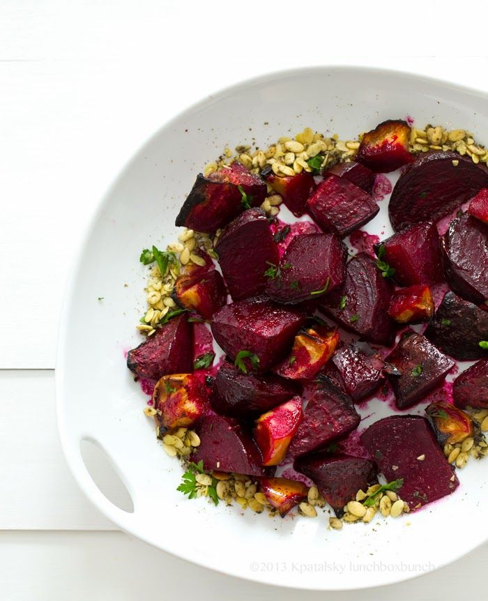 Ginger Citrus Maple Roasted Beets + Apples with Pumpkin Seeds (vegan ...
