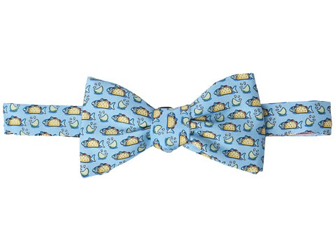 Vineyard vines fish taco printed bow tie roll out the for Fish bow tie