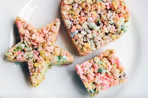 Peeps Krispies Treats... try not to think of it as gruesome - you'd be biting the heads off anyway.  From Serious Eats