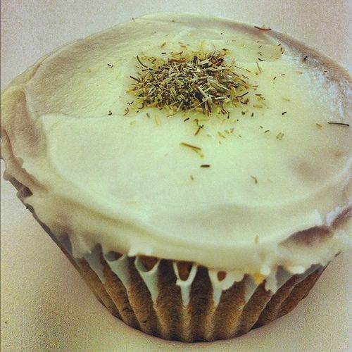 Chamomile Cupcakes with Honey Frosting | Cup Cakes | Pinterest