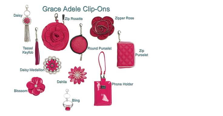 "... Clip-Ons as part of my self-imposed Grace Adele ""Think Pink"" week"