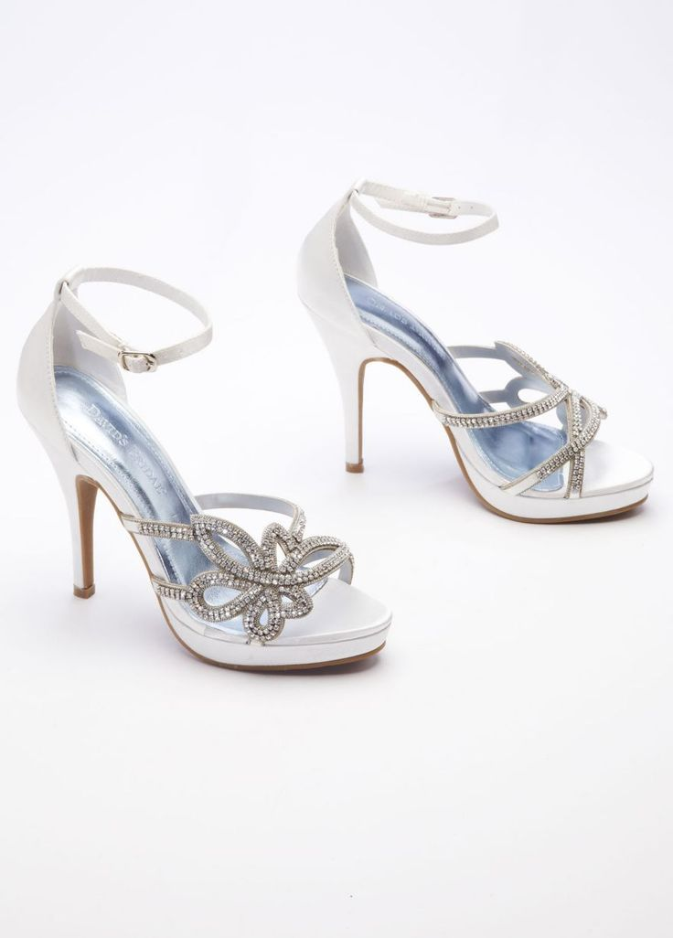 MY SHOES!!!! Lotus High Heel Sandal with Chain - David's Bridal
