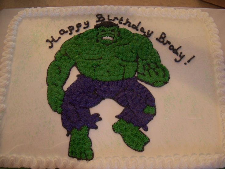 Incredible Hulk Cake Birthday ideas!! Pinterest