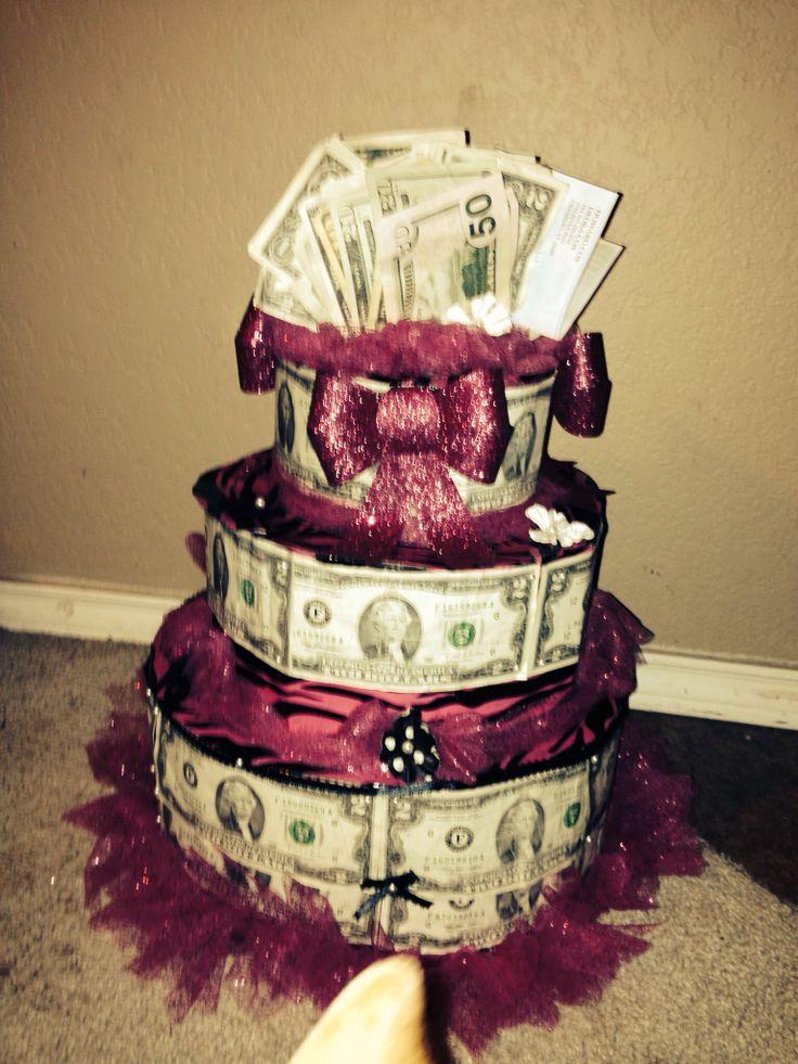 Sweet money cake holiday crafts pinterest - Money cake decorations ...