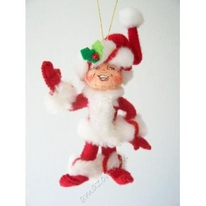 "Annalee 4"" Peppermint Twist Elf Ornament (2008)"
