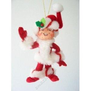 "Annalee 4"" Peppermint Twist Elf Ornament (2008)"