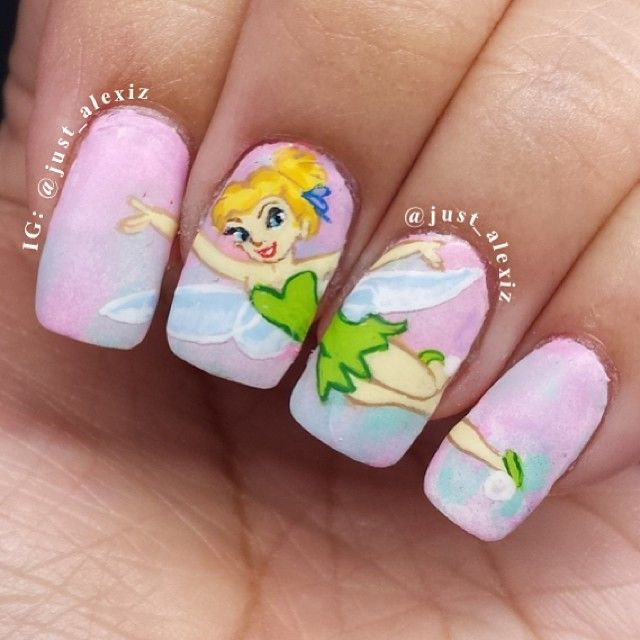 Tinkerbell Nails: Pin By Nancy Costa-Long On Awesome Nails!