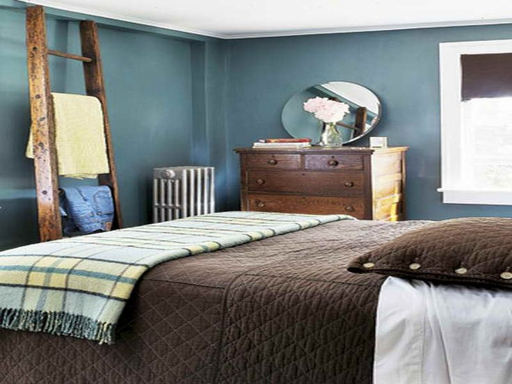 Brown and blue bedroom | Home Improvement | Pinterest
