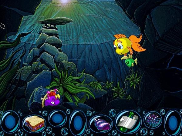 Freddi fish computer game 90s bet you 39 d forgotten for Fishing computer game