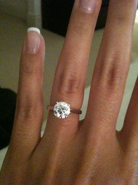 plain band engagement ring rings