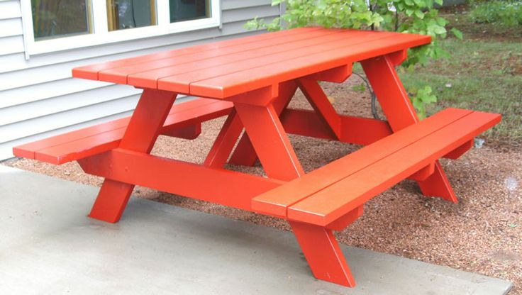painted picnic table for backyard for the home pinterest. Black Bedroom Furniture Sets. Home Design Ideas