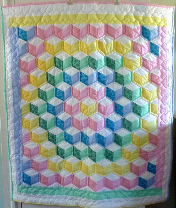 Tumbling Blocks Quilt Patterns - Patterns Kid