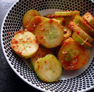 Korean Style Spicy Cucumber Salad | Food I Love | Pinterest