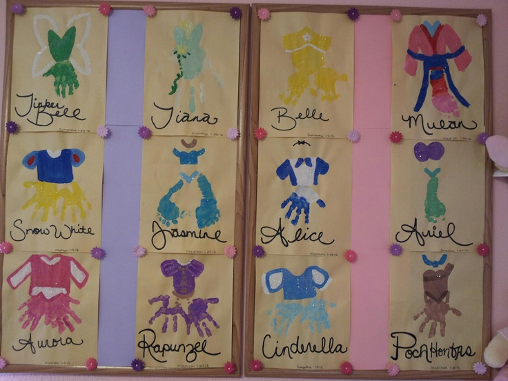 Disney Princess Handprint Art