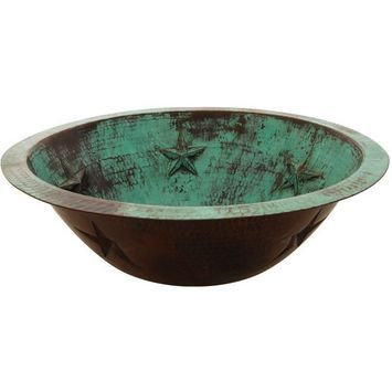 Turquoise Vessel Sink : Copper vessel sink with turquoise patina Bathroom vessel sinks Pi ...
