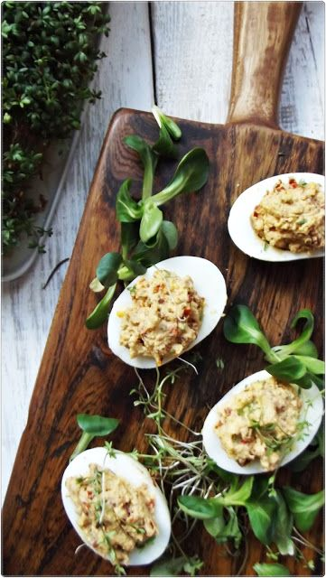 Romaine Pesto And Egg-stuffed Tomatoes Recipes — Dishmaps