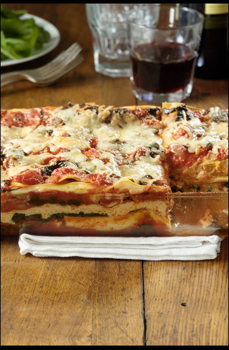 ... squash and turnip greens—unlikely for lasagna, but so good