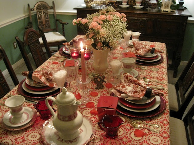 valentine day tablecloths