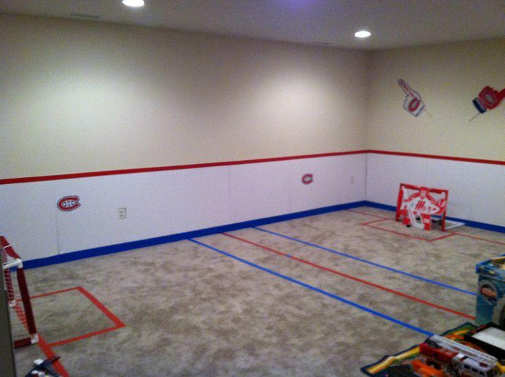 Basement Hockey Rink Kids Pinterest