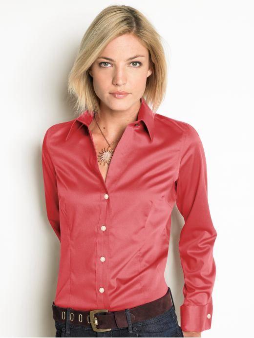 Wonderful Womens French Cuff Blouse  EBay