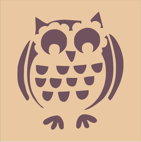 owls set of 2 diy sign stencils 4 sizes available create nursery wall decor and signs and