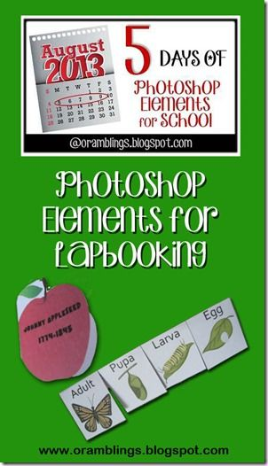 You can make some very sophisticated looking lapbook elements with Photoshop Elements and PDF templates.