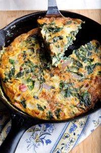 Swiss chard and cheese frittata | Recipes | Pinterest