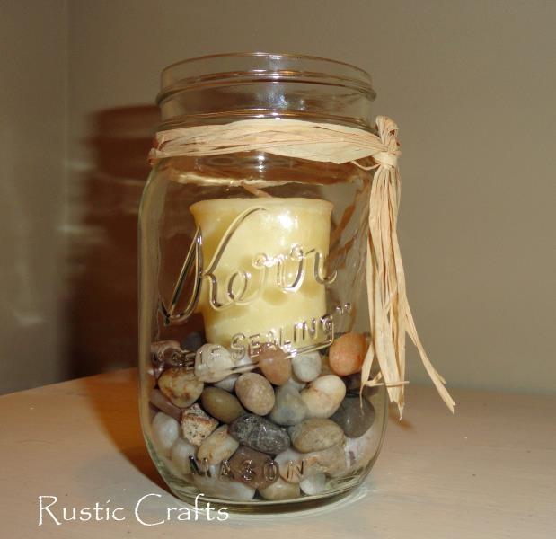 Diy decor mason jar candle radian room decorating for Diy candle jar decorations