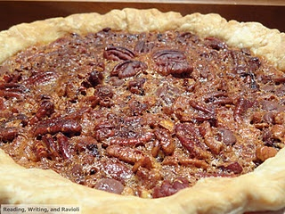 Bourbon-Spiked Chocolate Chip Pecan Pie with Salted Caramel Sauce ...