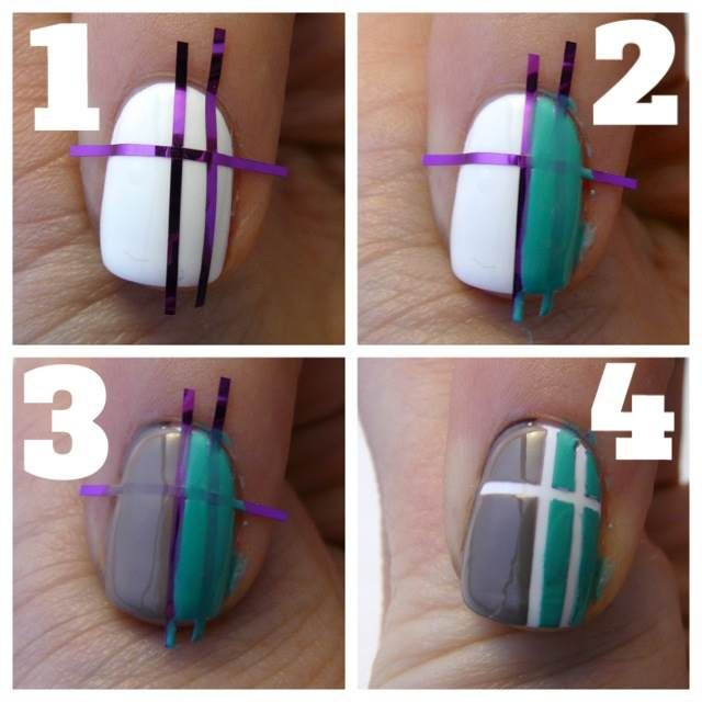 Striping Tape Nail Art Tutorial: Do It Yourself Just Like That: Striping Tape Nail Tutorial