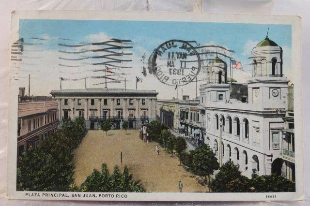 Plaza de armas 1937 viejo san juan puerto rico pinterest