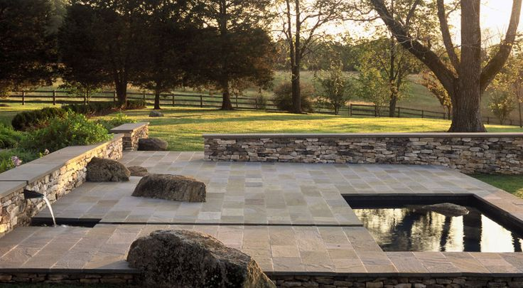 Modern water feature at tupelo farm va by nelson byrd for Nelson byrd woltz landscape architects