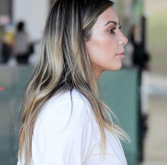 kim kardashian ombre hair color hair inspiration pinterest