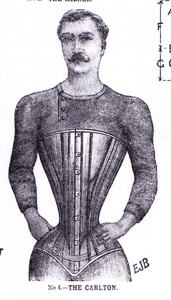 Man Wearing Corset Punishment