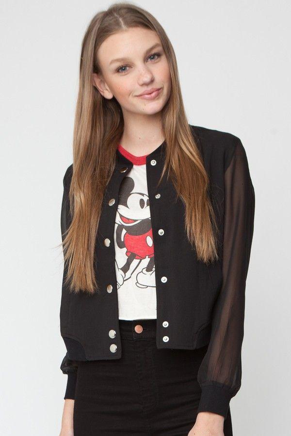 Brandy ♥ Melville   Beri Bomber Jacket   My Style   Pinterest