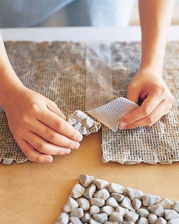 Как сделать DIY камень ковриком.