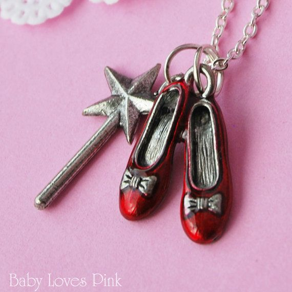 wizard oz ruby slippers pendant