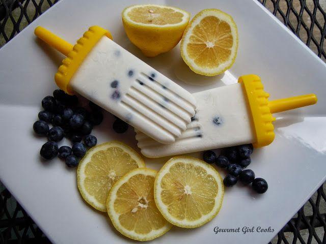 Gourmet Girl Cooks: Lemon-Coconut-Blueberry Frozen Greek Yogurt Pops ...