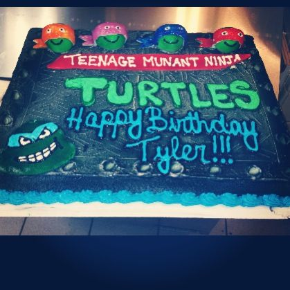 Ninja turtles sheet cake | My cakes (DQ) | Pinterest